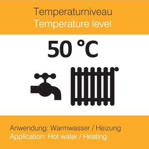 Solarthermie 50 °C für Heizung und Warmwasser