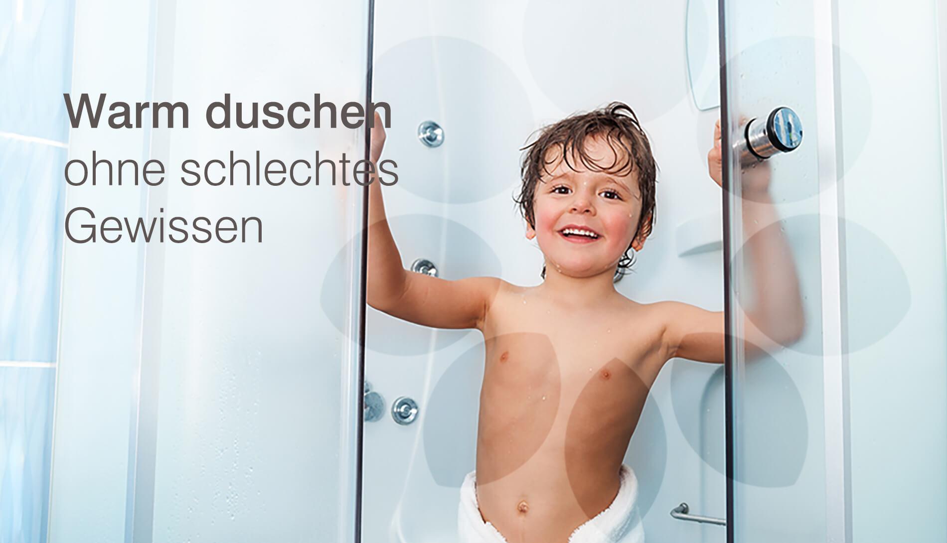 Duschen und Baden mit Solarenergie